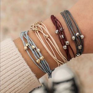 Adjustable Strap + Bead Simple Bracelet